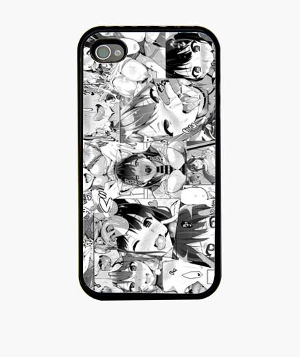Ahegao Caras Hentai Funda iPhone 4, negra