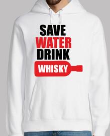 ahorrar agua beber whisky