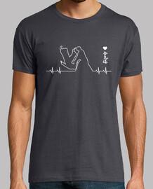Aikido Cardio. Hombre, manga corta, gris ratón, calidad extra