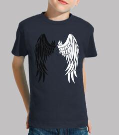 ailes noires et blanches