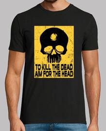 aim for the head t-shirt man