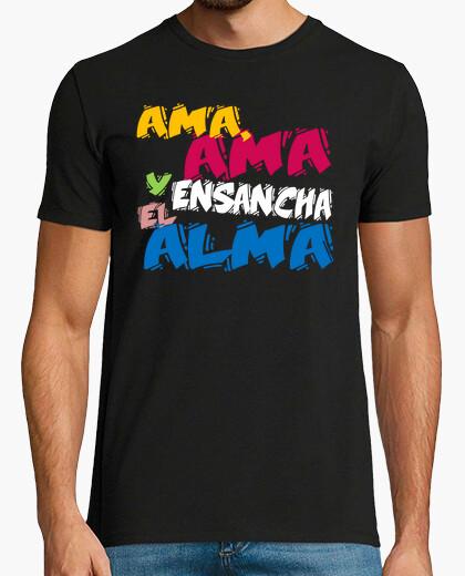 Tee-shirt aime, aime et élargit l'âme