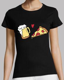 aime la bière et la pizza