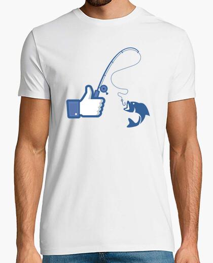 Tee-shirt aime la pêche aime - facebook
