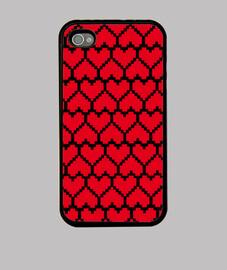 aimer pixel rouge sur fond noir
