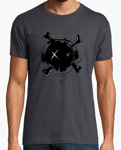 Tee-shirt aimer un casque de musique