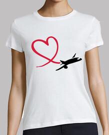 airplane heart love