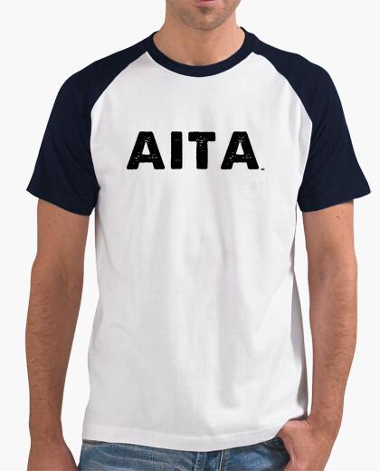 Camiseta AITA LEUN beltza