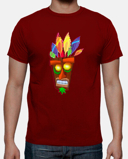 Camisetas aku aku - crash bandicoot - Friki