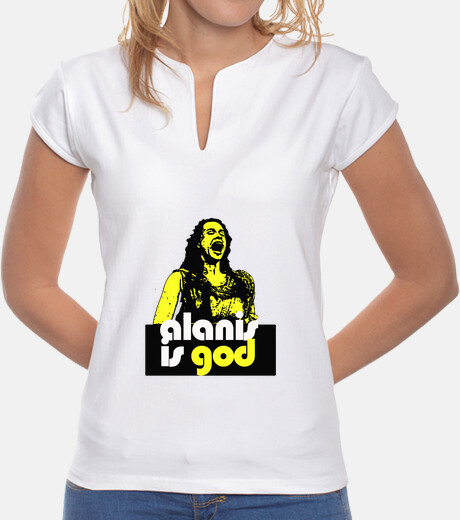 Camiseta alanis is god red