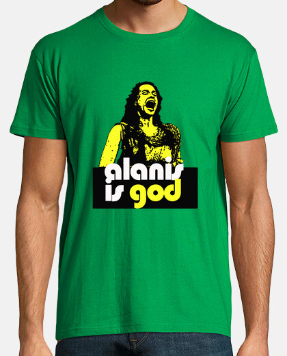 Camisetas alanis is god yellow