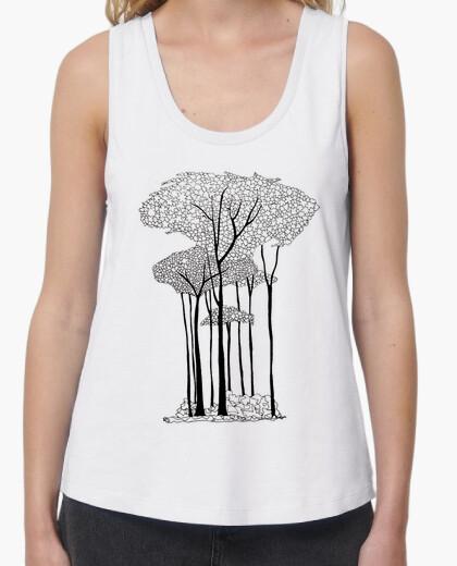 T-shirt alberi nel bosco