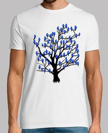 albero con gli uccelli