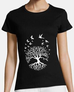 albero della vita maglietta albero della life yoga meditazione armonia donna