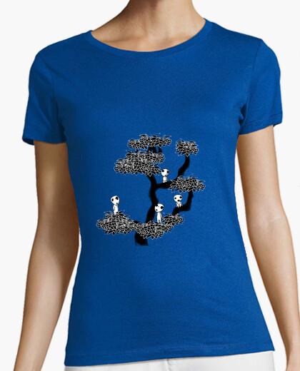 T-shirt albero kodamas per donna