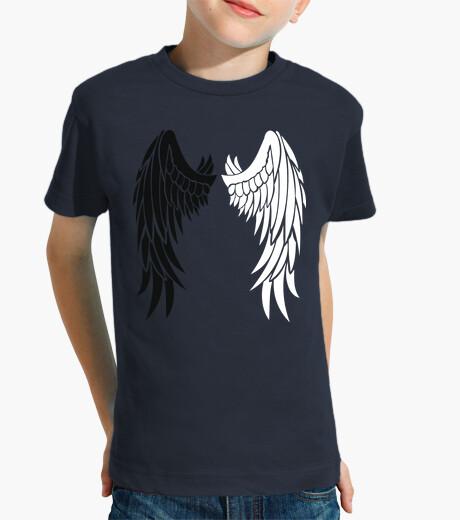 Abbigliamento bambino ali bianche e nere