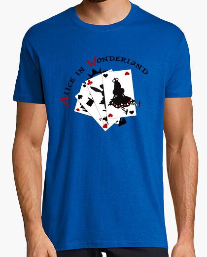 Camiseta Alice in wonderland cards
