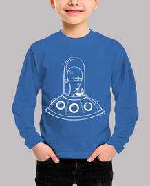 alien - t-shirt manga per bambini