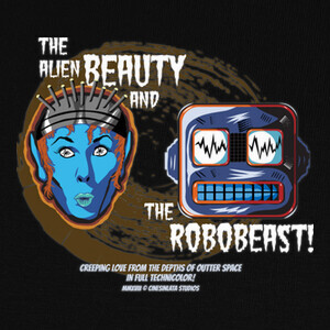 Camisetas Alien Beauty and the RoboBeast