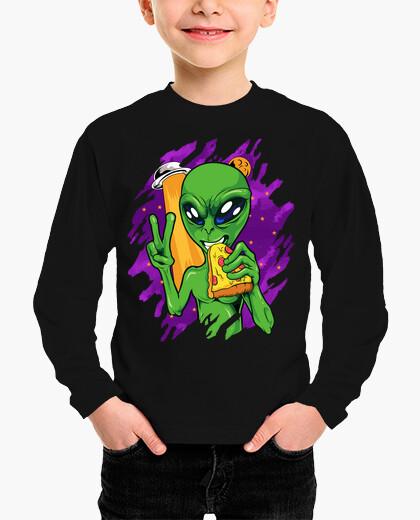 Ropa infantil Alien come Pizza en Halloween