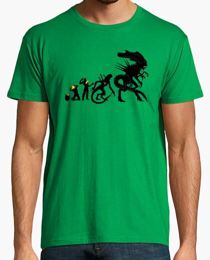 T-shirt alien evoluzione