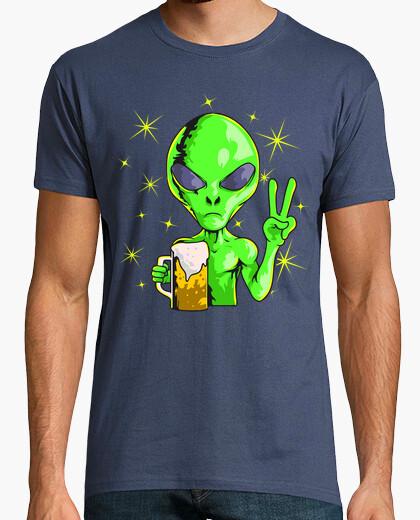 Camiseta Alien Extraterrestre Area 51 Cerveza