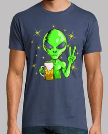 Alien Extraterrestre Area 51 Cerveza