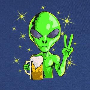 Camisetas Alien Extraterrestre Area 51 Cerveza Pa