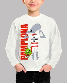 AlienT-Shirt SanFermín ⭐️⭐️⭐️⭐️⭐️ Niño, manga corta, blanco