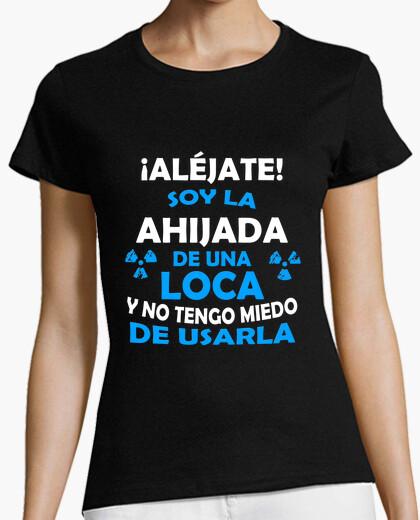Camiseta Aljéjate ahijada de Tía Loca chica