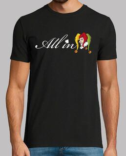 all in logo camiseta