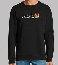 all in logo sweatshirt
