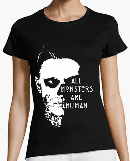 Camiseta All Monsters Are Human Blanco