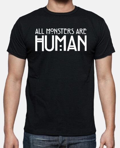 All Monsters Are Human Logo White