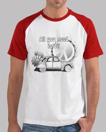 all vous avez besoin est amour - shirt  homme