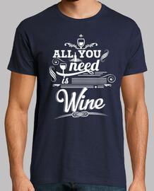 all you bisogno è il vino. uomo