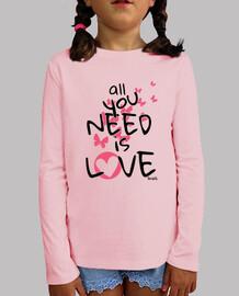 All you need is love Camiseta Niños Manga Corta