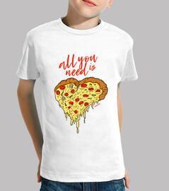 Alles was Sie brauchen ist Pizza