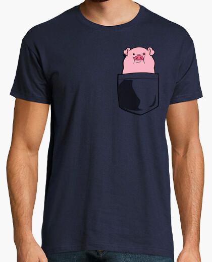 Camiseta alma gemela bolsillo