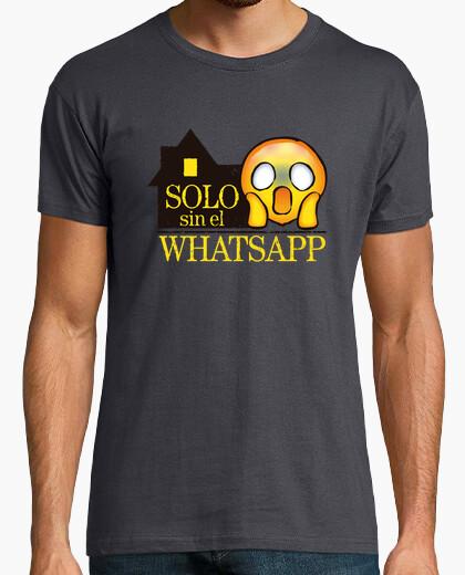 Alone without whatsapp - man t-shirt - man t-shirt