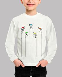 alpinistascolores camisetaniño