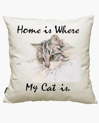 Housse de coussin amant de chat
