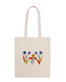 Amapolas y tulipanes