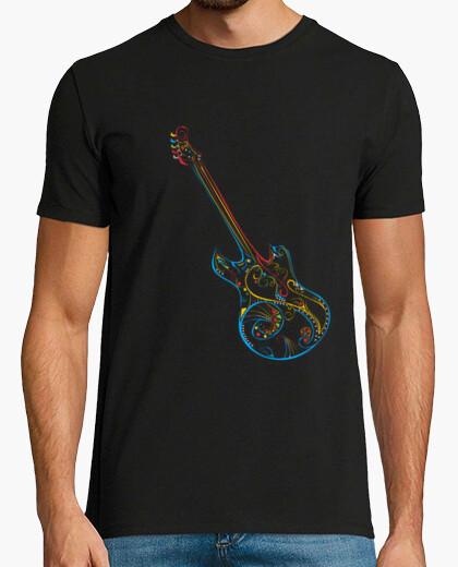Camiseta amar a la guitarra la música de color