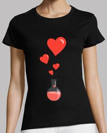 amar matraz química de corazones friki