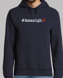#Amazigh Hombre, jersey con capucha, azul marino