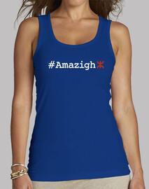 #Amazigh Mujer, sin mangas, azul royal