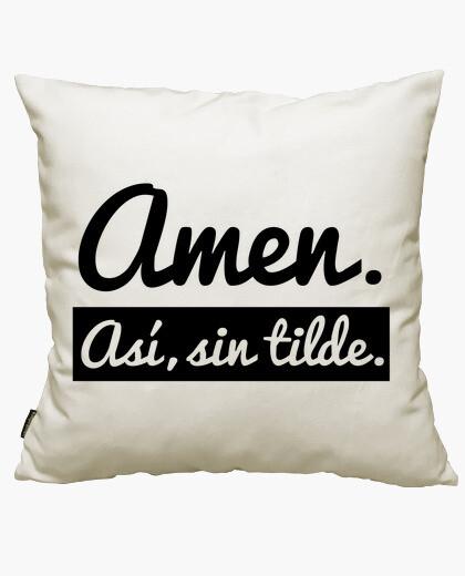 Funda cojín Amen. Así, sin tilde