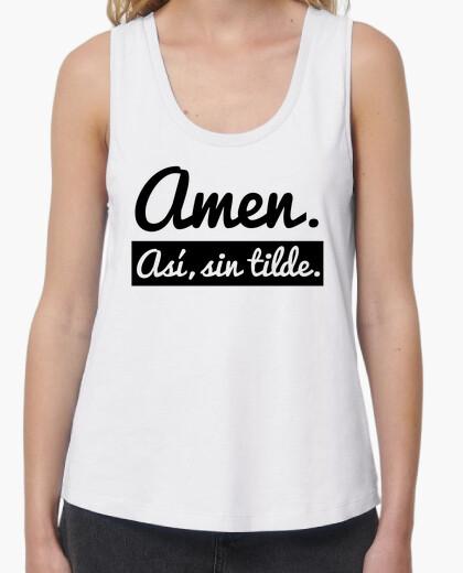 Camiseta Amen. Así, sin tilde (Fondo Claro)