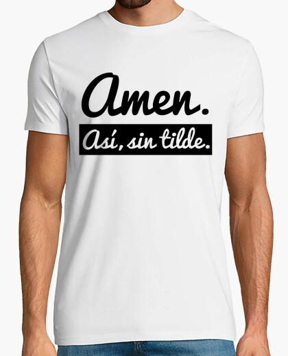 T-Shirt amen. so, ohne tilde (heller hintergrund)